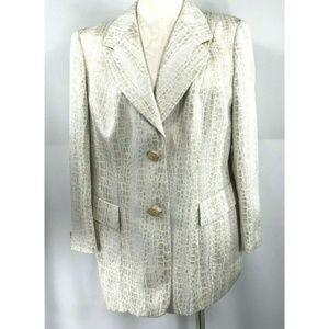 Escada Couture 44 L/XL Evening Jacket Snake Print